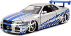 Fast and Furious Brians Skyline R34 Diecast Car Best Event Christmas Toys