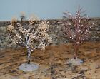 Lemax Birch Trees Winter Leafless River & Silver w/Fall Leaves Village Accessory