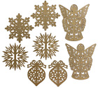 Anna Griffin Christmas 3D Ornament Dies BNIP + Damask Magnetic Sheet SOLD OUT