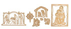 Anna Griffin Christmas Nativity Cut  Emboss Dies 10 Pc BNIP + BONUS Sold Out