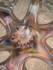 Vintage Large 15 Murano Style Art Glass Bowl Starfish Spider Multicolor