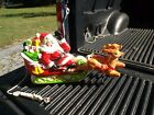 VINTAGE CHRISTMAS BLOW MOLD SANTA WITH REINDEER BY EMPIRE