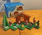 Vintage 1963 CLACO Social Distancing EXPANSION NATIVITY SET 204 w Box Xmas