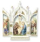 Veronese Resin Nativity Triptych Statue Holy Religious Figurine Hand Painted New