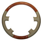 Leather Wood Steering Wheel Cover for 98 02 Land Cruiser Lexus LX470 450 LS400
