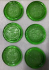 Pisces Rooster Green Art Glass Zodiac Coasters 6