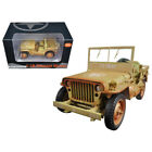 US Army Vehicle WWII Desert Sand Weathered Version 1 18 Diecast Model Car by Ame
