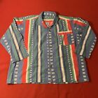 Pajama Button Shirts Native American Green Button Medium Large 80s 1980s