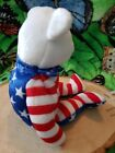 Ty Liberty Red White And Blue Beanie Baby Bear 2002 June 14 2001 Bdate