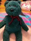 Ty 2001 Holiday Teddy Beanie Baby Dob Dec 24 2000 Tush 2001 green with sparkles
