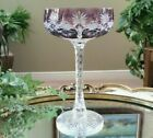 Vintage Baccarat Purple Cased Cut to Clear Crystal Wine Champagne Saucer