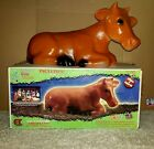 Vintage Christmas Empire Nativity Cow Lighted Blow Mold 22 X 115 Boxed