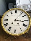 Antique French Wall Clock Movement With Ornate Dial  Other Parts