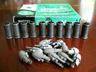 Ten Mattel Shootin Shells w Twelve Gray Bullet Tips  Large Greenie Cap Box