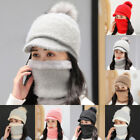 Ski Hat Hat Beanie Knitted Casual Beanie Winter Ski Hat And Neck Warmer Scarf