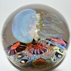 Satava Moon side swimmer Jellyfish HAND CRAFTED GLASS 45 Diameter SIGNED