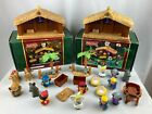 2 Fisher Price Childrens Little People Christmas Nativity Manger Scene Sets