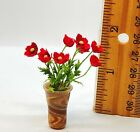 Dollhouse miniature 1 12th scale poppies in glass vase