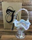 Fenton French Opal Basket 10 2005 with Original Box