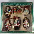 Brass Key Collectibles Glass Christmas Splendeur Ornaments 6 In Box