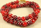 Old Antique Venetian RED SKUNK White Heart Glass African Trade Beads