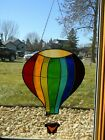 Beautiful Hanging Stained Glass Hot Air Balloon Window Suncatcher 1375h