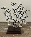 Vintage lot 16 Crystal Glass Tear Drop Shape Chandelier Lamp Prisms With Wire