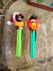 Vtg PEZ Candy Carlton Card Ornaments #130 Yappy Dog & Puzzy Cat RARE Heirloom