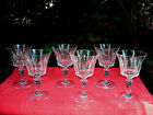 BACCARAT PICCADILLY 6 WINE CRYSTAL GLASS GLASSES 6 VERRES A VIN CRISTAL TAILL Z
