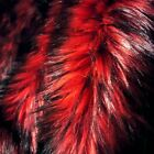 BLACK FROSTED RED WOLF LONG PILE FAUX FUR FABRIC LUSH FUR Half Full Yard
