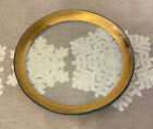 1991 Annieglass 8 1 2 Handcrafted Roman Antique Gold Rim Salad Plate