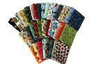 10 Fat Quarters Assorted Bugs Insects Creepy Crawlies Beetles Moths M22905
