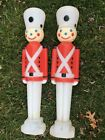 Vintage Nutcracker Christmas Blow mold lot of 2 30 Tall Empire Nice clean