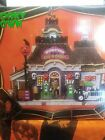 Spooky Town Lemax, Gas 'N Ghoul Halloween Village Lighted Retired!!! NEW!