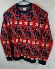 Chicago Cubs MLB 2xl Ugly Christmas crewneck Sweater CandyCane Repeat Patterns