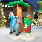 Christmas Inflatables Outdoor Decor Nativity Sets Journey to Bethlehem LED Lighs