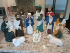 EMPIRE BLOW MOLD SET OF 10 NATIVITY SCENE VTG TABLE TOP SIZE