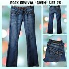 Rock Revival Gwen Boot cut Jeans size 26 Dark Wash