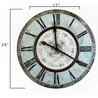 Beautiful Large 29 Wall Clock Distressed Mint Green Captivating French Country