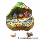 NATIVITY WITH 2 REMOVABLE ANIMALS LIMOGES BOX AUTHENTIC PORCELAIN FIGURINE FRO