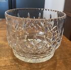 HEAVY Crystal Glass Ice Bucket Wine Champagne Cooler Serving Bowl Formal