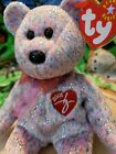 Ty 2001 Signature Bear Beanie Baby Pink Pastel