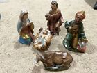 VINTAGE NATIVITY Set 5 Pieces not Complete replace Marked JAPAN Baby Jesus