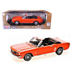 1964 1 2 Ford Mustang Convertible Orange Timeless Classics 1 18 Diecast Model