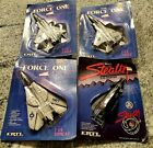 1986 Ertl Force One US Navy F 14 Tomcat F 15 Eagle F 19 Stealth Die cast in Pack