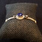 Silver Bracelet With Beautiful Lapis Stone From Nepal