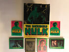 1979 Topps The Incredible Hulk Complete Cards, Stickers, Box, Wax Pack & Wrapper