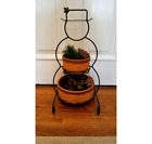 Longaberger Wrought Iron Snowman, two baskets and protectors. 23