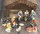 Vintage 12 Piece Goebel Nativity Set HX 82 1960s West Germany w manger