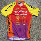 Vintage 1996 Red Volvo Cannondale Reebok Skinsuit Yellow Short Sleeve Medium
